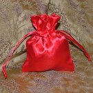Satin Gift Jewelry Pouch - Red 3 x 4 inch