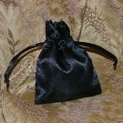 Satin Gift Jewelry Pouch - Black 3 x 4 inch