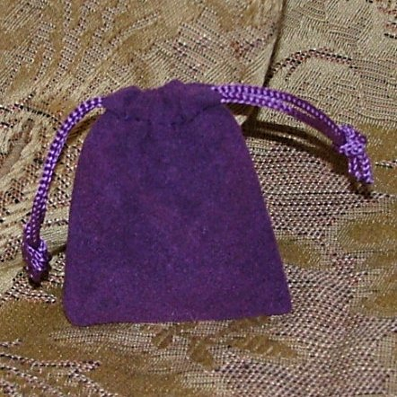 Velour Gift Jewelry Pouch - Purple 2 x 2.5 inch