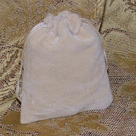 Velveteen Gift Jewelry Pouch - Peach 2.5 x 3 inch