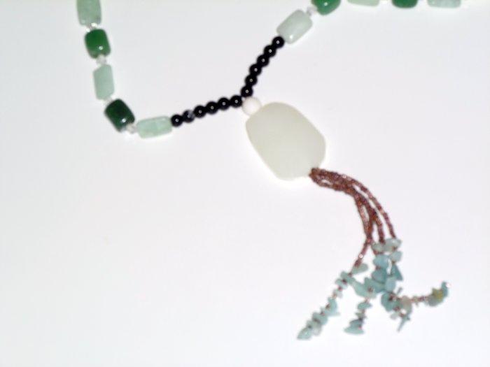 Jade Bohemian Style Gemstone Necklace