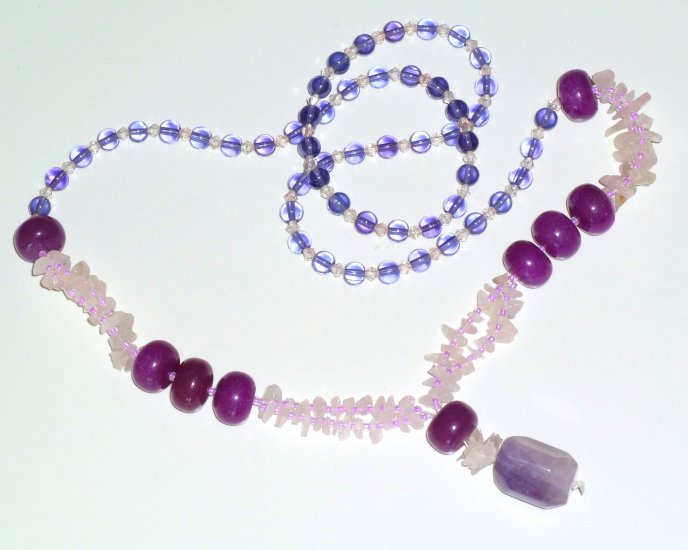 Amethyst Bohemian Style Gemstone Necklace