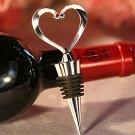 Chrome Open Heart Wine Bottle Stopper,  Love Theme Wedding Favor