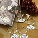 Bridal Shower, Wedding Favor, Romantic Wine Glass Charm Set Forever, Love, Romance, Dream