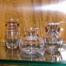 Trio of Petite Fluted Bud Vases