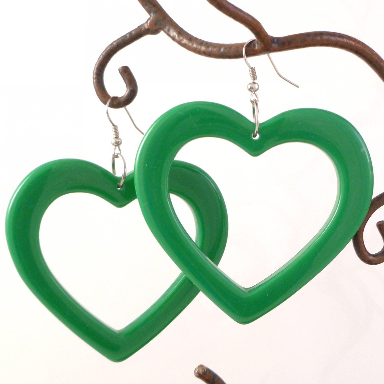 Lucky Kelly Green Open Heart