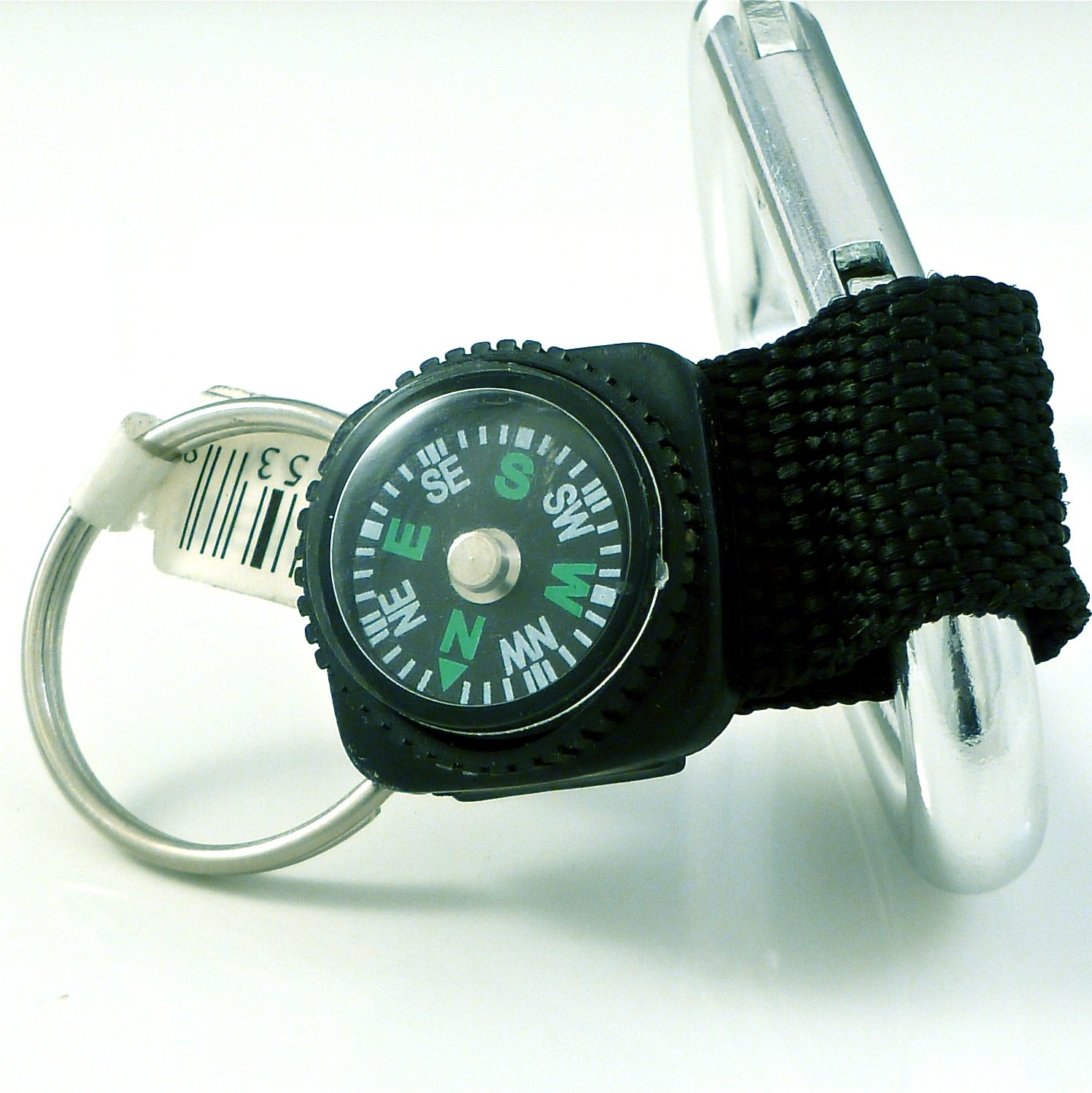 Carabiner Key Chain with Compass -01