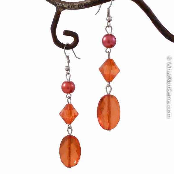 Red Hot Lover Dangle Earrings