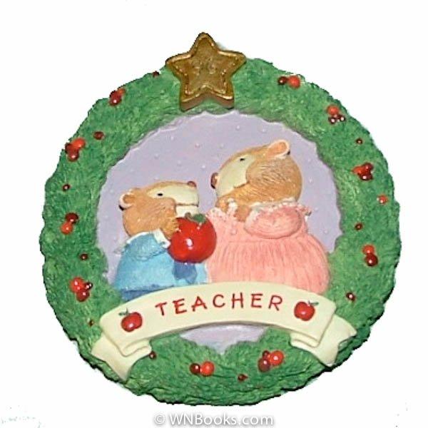 Apple For Teacher Wreath 1996 Hallmark Keepsake Ornament QX6121