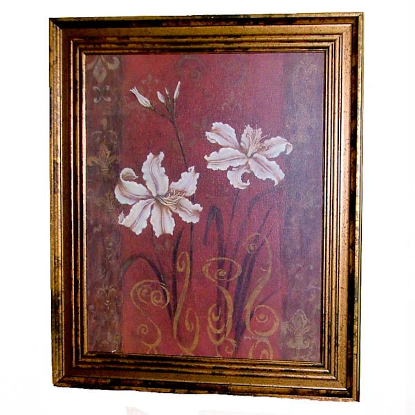 Framed Lily Design by Judy Mastrangelo