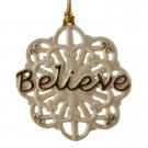 Lenox 'Believe' Pierced Christmas Ornament