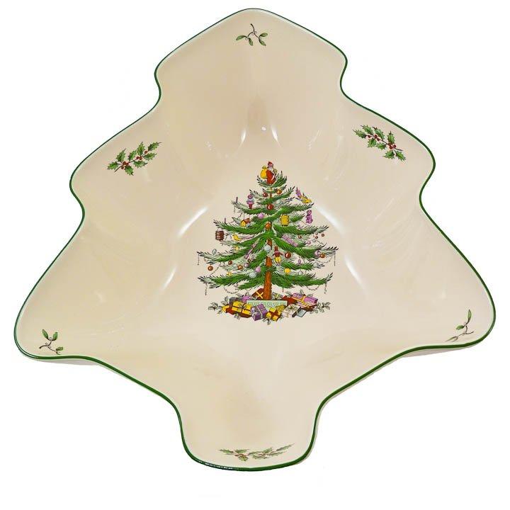 Spode Christmas Tree-Shaped Deep Serving Bowl