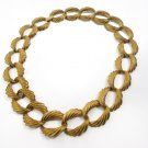 Vintage Napier Quality Gold Tone Link Necklace