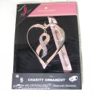Harvey Lewis Heart and Pink Ribbon Charity Ornament Breast Cancer