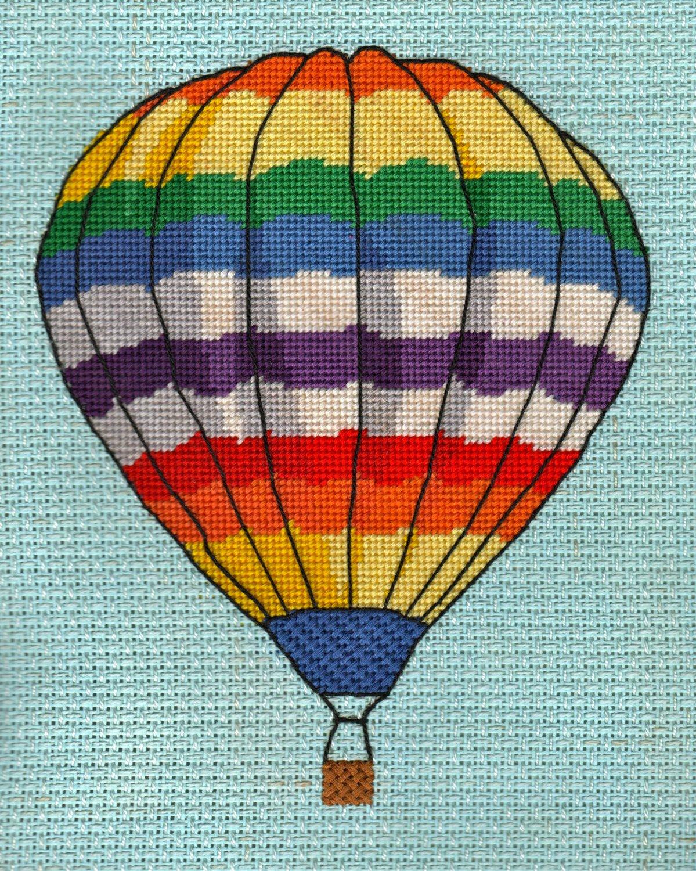 Balloon in Flight Completed Needlepoint