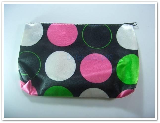 Black Colorful Dot Cosmetic Bag Free Shipment