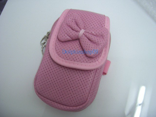 Pink Ribbon Cell Mobile Phone Bag Case w/ Strap