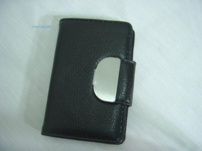 Black Leather Business Name Card Holder