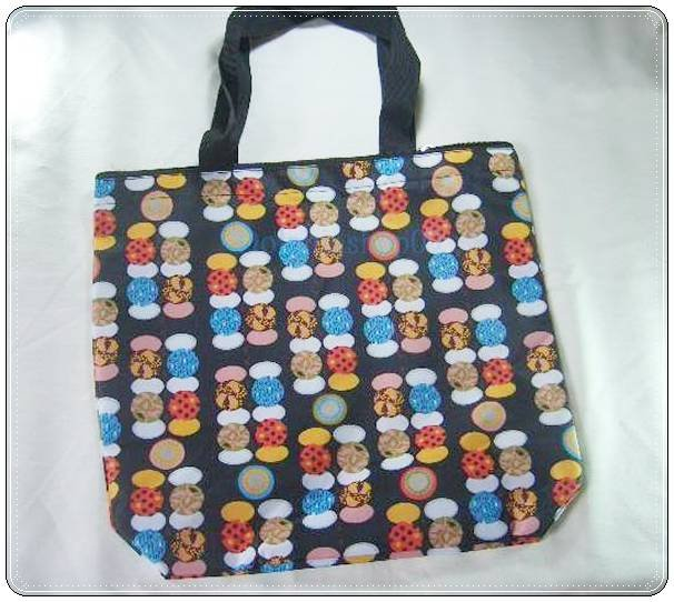 Black Colorful Dot Eco Tote Shpping Bag