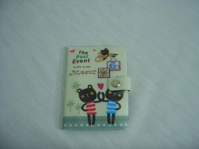 Beige Lovely Bear Plastic Name Card Holder