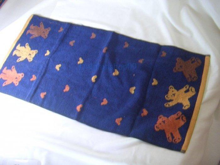 Blue Bear Thick Face Bath Washcloth Towel