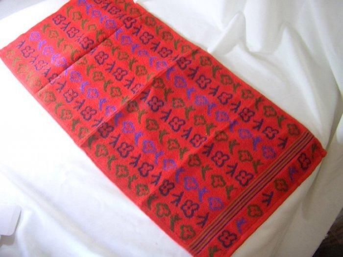 Red Thick Bath Face Clothwash Towel