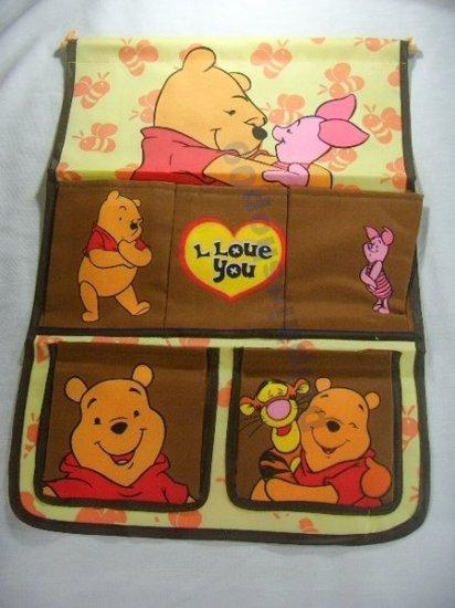 Yellow Brown Winnie the Poon Door & Wall Hanging Organizer / Bag
