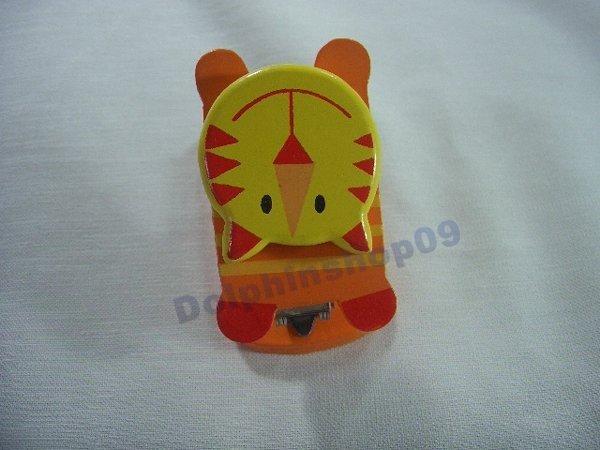 Orange Yellow Wooden Tiger Stapler