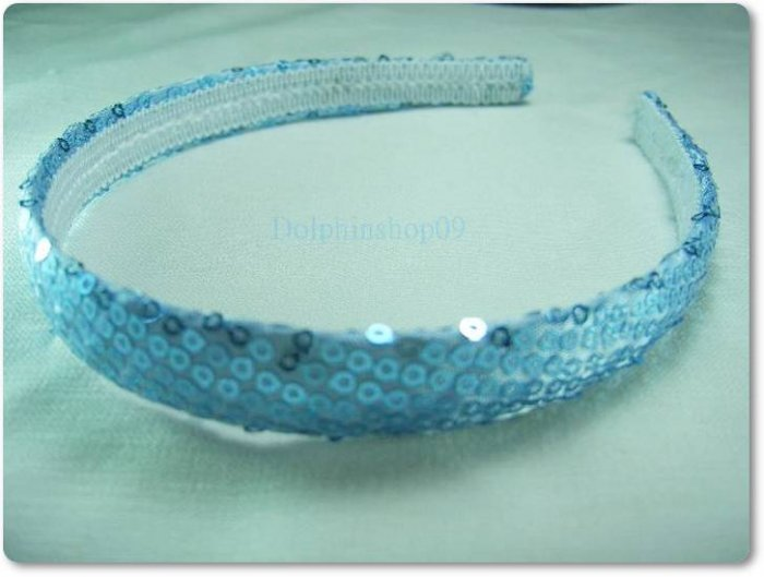 Shining Slim Blue Dot Hair Head Band