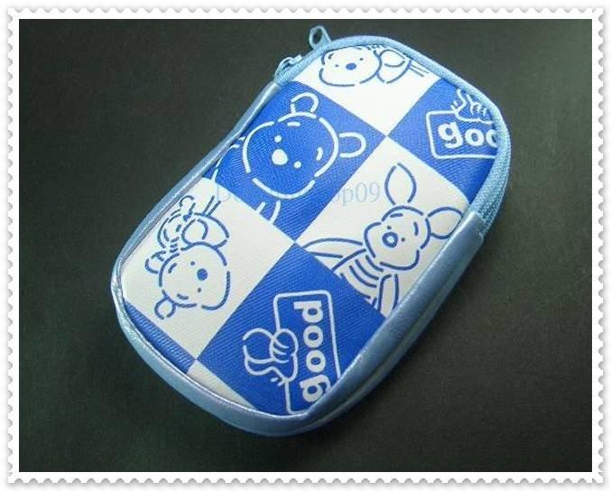 White Blue Bear Cell Phone Bag Case Pouch W/ Strap