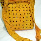 Bohemian Style Boho Gypsy Yellow Shoulder Bag Purse with Mirrorwork