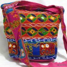 Bohemian Style Gypsy Boho Bag with Hand Embroidered Elephant