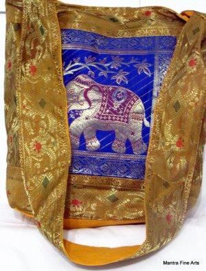 Bohemian Style Indian Jacquard Silk Hand Bag
