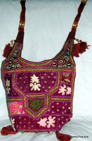 Bohemian Style Gypsy Boho Handbag with Handworked Embroidery