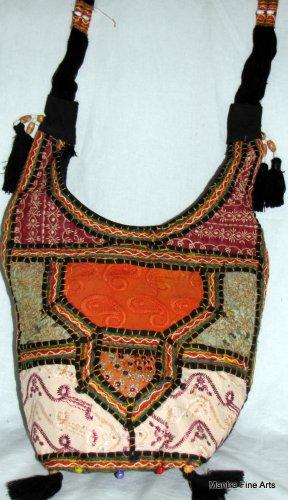 Bohemian Style Gypsy Boho Handbag with Handworked Embroidery