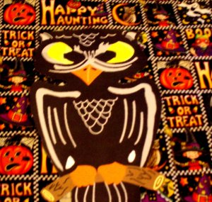 Halloween Black Owl Die Cut Party Decorations