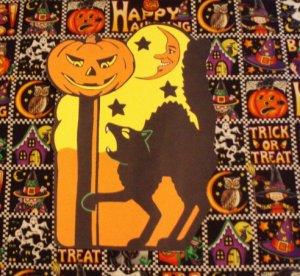 Halloween Black Cat Moonface Die Cut Party Decorations