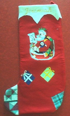 EMBROIDERED PERSONALIZED CHRISTMAS GIFT STOCKING HOLIDAY DECOR