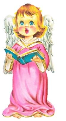 Christmas CAROLING Angel die cut art decoration