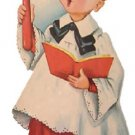 CHRISTMAS Caroling CHIOR Boy die cut decoration