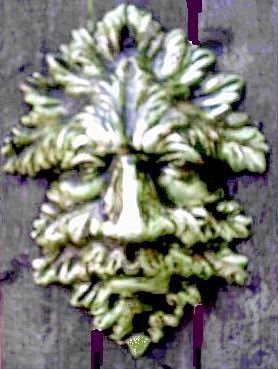 GREENMAN GARGOYLE PLAQUE GOTHIC WALL HANGING RENAISSANCE PAGAN CELTIC WICCA