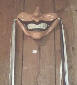 GOTHIC SMILE WALL MASK JESTER CLOWN JOKER RENAISSANCE CIRCUS GOTH WALL HANGING CARNIVAL