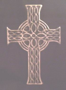 LARGE CELTIC CROSS WALL HANGING GOTHIC PAGAN RENAISSANCE MEDIEVAL HOME DECOR