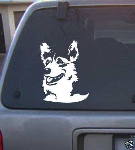 Decal Vinyl Graphic Dog Corgi  4 Colors to pick