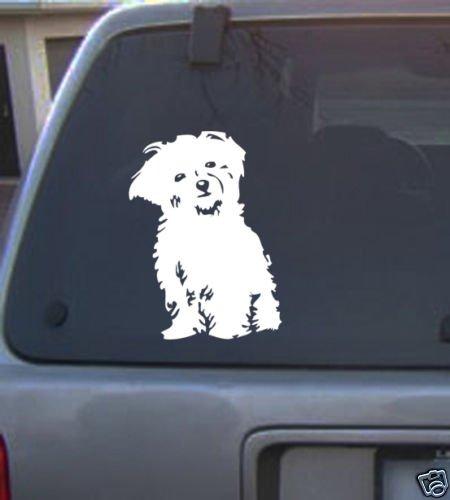 Decal Vinyl Graphic Dog Bichon Frise 4 Colors to pick