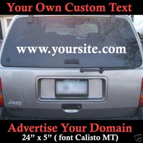 Custom Domain Name 4 Colors to pick