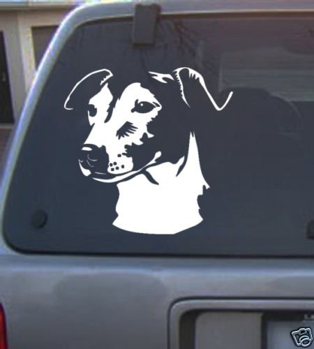 Decal Vinyl Graphic Dog Jack Russell  4 Colors to pick