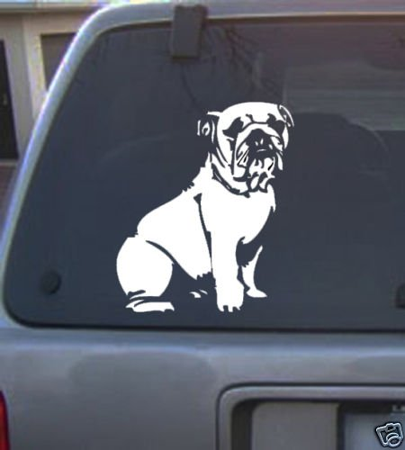 Decal Vinyl Graphic Dog Bulldog  4 Colors to pick
