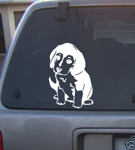 Decal Vinyl Graphic Dog Beagle Pup  4 Colors to pick