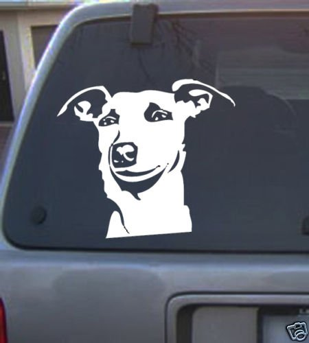 Decal Vinyl Graphic Dog Wippet  4 Colors to pick